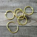 Кольцо разъемное металлическое, золото, размер 3 см., цена за 1 шт, IN000930