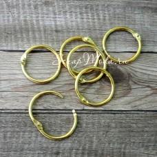 Кольцо разъемное металлическое, золото, размер 2,5 см., цена за 2 кольца, IN000415