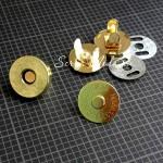 Золотые магнитные застёжки , диаметр 18 мм., цена за 1 комплект,  DA000600