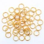 Металлическое золотое колечко соединитель, 6 мм, цена за 1 шт, IN000429