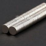 Магнит крепкий, неодимовый, тонкий, 10 мм  толщина 1мм., цена за 2 шт., IN000432