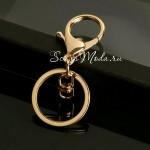 Крепление для брелков, золотой, диаметр кольца 30 мм., IN000444