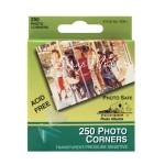 Уголки для фотографий прозрачные, размер 10 мм., 250 штук, IN000467