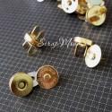 Золотые магнитные застёжки , диаметр 14 см., IN000470