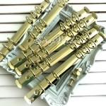 Металлический Кольцевой механизм А5, цвет:светлое золото, на 6 колец, диаметр колец 20 мм., IN000473