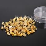 Зажим для ленты 6 мм, золото, размер 6х8 мм, цена за 1 шт., IN000481