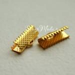 Зажим для ленты 20 мм, золото, размер 20х8 мм, цена за 1 шт., IN000483