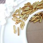 Зажим наконечник для резинок, цвет золото, 1.4 см., IN000495