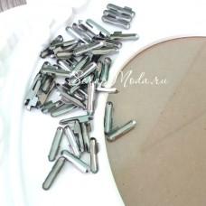 Зажим наконечник для резинок, цвет серебро, 1,4 см., IN000496