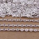 Цепочка со звеньями, серебро, размер 2х3 мм, цена за 50 см., IN000504