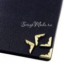 Металлический Уголок для альбома с узором, золото, глубина 3 мм., 15х15 мм., цена за 1 шт.,  IN000506