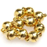Магнитная застежка, Золото, 8 мм., цена за 1 пару. IN000513