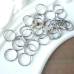 Металлическое колечко соединитель, серебро, размер 10 мм, цена за 1 шт., IN000517