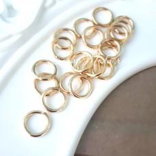 Металлическое золотое колечко соединитель, размер 10 мм, цена за 1 шт., IN000518