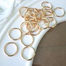 Металлическое золотое колечко соединитель, размер 14 мм, цена за 1 шт., IN000519