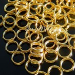 Металлическое золотое колечко соединитель, размер 15 мм, цена за 1 шт., IN000527