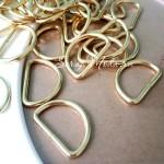 Металлическое полукольцо золотое,  размер 30х3 мм, внутри 25 мм, цена за 1 шт., IN000529