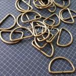 Металлическое полукольцо, античная бронза, размер 24х2,0 мм, цена за 1 шт., IN000563