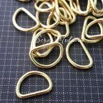 Металлическое полукольцо, золото, размер 15х2 мм, цена за 1 шт., IN000573