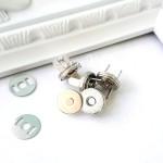 Магнитные Плоские застёжки, цвет серебро, диаметр 10 см., IN000586