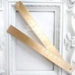Золотая линейка металлическая, длина 15 см, ширина 1,8 см, IN000608