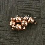 Магнитная застежка, античная бронза, 6 мм., цена за 1 пару - 12 мм, IN000613