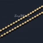 Цепочка золотая (состоит из  шариков), диаметр 2,4 мм, цена за 50 см., IN000636