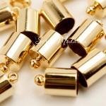 Фурнитура Колпачек для кисточки,, металлический, золото, размер 9х13 мм., цена за 1 шт., IN000640