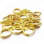 Металлическое золотое колечко соединитель, размер 20 мм, цена за 1 шт., IN000643