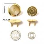 Магнитная тонкая застёжка-кнопка, цвет золото, диаметр 18 мм., с косым срезом. IN000655