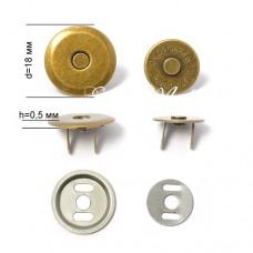 Магнитные Плоские застёжки, Античная бронза, с косым срезом. диаметр 18 см., IN000656
