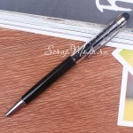 Ручка с кристалликами, Чёрная, стержень черный 0,5мм., 15 см., IN000668