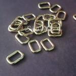Металлическая рамка прямоугольная, серебро, размер 10х14 мм, цена за 1 шт., IN000691