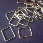 Металлическая рамка прямоугольная, серебро, размер 20х15 мм, толщина 2 мм., цена за 1 шт., IN000692