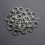 Металлическое колечко соединитель, Серебро, размер 10 мм, толщина 1 мм, цена за 1 шт., IN000693