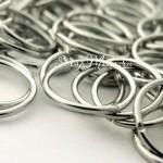 Металлическое колечко соединитель, Серебро, размер 20 мм, толщина 2 мм, цена за 1 шт., IN000694