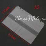 Файл-Вставка для планера А5 для визиток, материал ПВХ, матовый,  размер 15х21см, IN000700