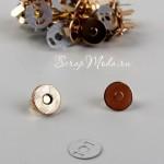 Магнитные Плоские застёжки, цвет mix золото-розовое золото, диаметр 10 см., IN000703