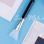 Силиконовая широкая кисть, длина 15 см., цвет ручки Чёрный, IN000704