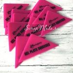 Резиновый Розовый шпатель, 7х13 см, Ranger  IN000750