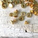 Металлические винты для установки кольцевого механизма, цвет:золото, диаметр 8 мм., расстояние между шляпок 5 мм.IN000756