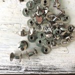 Винты для установки кольцевого механизма серебро, полукруглая шляпка, диаметр 8 мм, длина 5 мм., набор 2 шт. IN000757