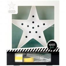 Декоративный-светильник Звезда от Heidi Swapp. Декорируется самостоятельно.