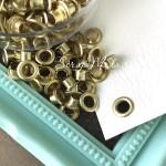Люверсы золотые, цена за 25 шт., 4,5 мм. IN000770