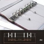 Кольцевой механизм Серебро на 6 колец, А6, длина механизма 17,5 см. Диаметр колец 20 мм., IN000774