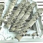 Металлический Кольцевой механизм А6, цвет:серебро, на 6 колец, диаметр колец 20 мм. IN000774
