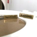 """Лейбл """"hand made"""", цвет:античная бронза, размер пластинки 34х10 мм, толщина 1 мм. IN000780"""