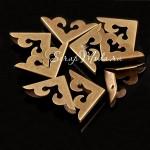 Металлический Уголок для альбома с тиснением, античная бронза, размер внешних сторон уголка 27х27мм., цена за 1 шт., IN000781