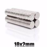 Магнит крепкий, неодимовый, тонкий, 10 мм  толщина 2 мм., цена за 2 шт., IN000794