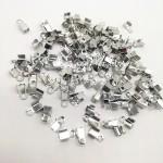 Зажим наконечник-заглушка для резинки или шнура, цвет серебро, размер 2x6 мм, IN000809